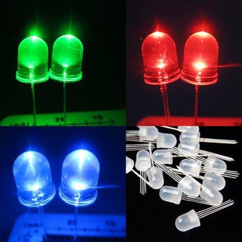 20Pcs Ultra-Bright 10Mm 4Pin Rgb Diffused Lens Led Lamp Light Common Anode