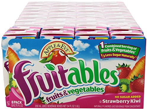 Apple & Eve Fruitables, Strawberry Kiwi, 8 Count (Pack Of 5)
