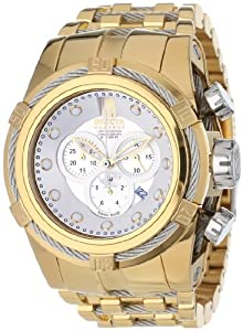 Jason Taylor for Invicta Collection 12953 BOLT Zeus Chronograph Silver Dial 18K Gold Ion-Plated Stainless Steel Watch