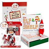 Elf on the Shelf Blue Eyed Girl with Polar Pattern Outfit - Direct From North Pole in Limited Edition Santa Gift Box