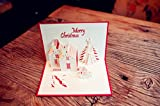 Omall (TM) 15x10cm 3D Pop-up Luxury Handmade Christmas Holiday Greeting Cards 3D Stereo Handmade Christmas Invitations Gifts,New Year blessing Greeting Cards