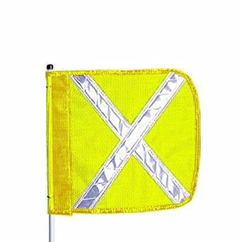 Flagstaff FS12 Safety Flag with Reflective X, Male Quick Disconnect Base