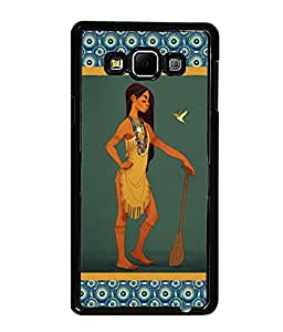 PrintDhaba Nice Girl Back Case Cover for SAMSUNG GALAXY A7 - D3652