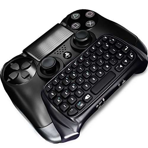 Donop® Wireless Bluetooth Keyboard for Ps 4,mini Qwerty Chat Pad Chatpad Keypad Text Messenger Gamepad Adapter for Sony Play Station Ps 4 Game Gaming Joypad Controller Console[ Ps4 ] (Fps Freak Elite compare prices)
