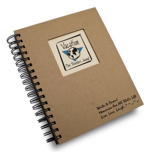 Vacation, The Traveler's Journal - Kraft Hard Cover (prompts on every page, recycled paper, read more)