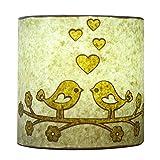 Craftter Handmade Paper White Color Love Bird Wall Lamp 250 G (10cm * 22cm )