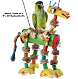 Small Bamboo Giraffe Planet Pleasures Bird Toys
