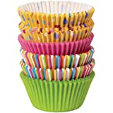 Wilton 415-8121 150-Pack Baking Cup, Dots/Stripes, Standard