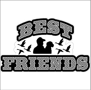 Best Friends Hunting Decal Duck Hunting Car Truck Removable Hunter