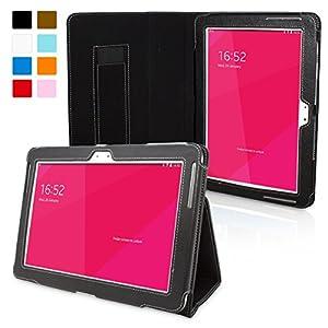 Snugg™ - Étui Pour Samsung Galaxy Note 10.1 - Smart Case Avec Support Pied Et Une Garantie à Vie (En Cuir Noir) Pour Samsung Galaxy Note 10.1