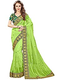 Glory Sarees Women's Net Saree(swayamwar 109_green)
