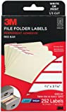 3M Red Bar File Folder Labels for  Laser/Inkjet Printers, White With Red Bar, 2/3 x 3 7/16 Inches, 36 Sheets per Pack (6300-RF)