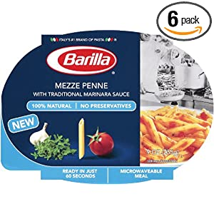 Barilla Mezze Penne with Traditional Marinara Sauce, 9-Ounce (Pack of 6)