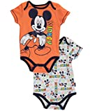 "Mickey Mouse Baby Boys' ""Rainbow Mickey"" 2-Pack Bodysuits"