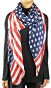 Womens USA Flag Stunning Scarves Scarf  Multicolor