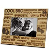 Cool Bro Photo Frame - Wooden Photo Frame 1, Photo Frames Online, Wooden Gifts Online, Home Décor Gifts, Table Top Online, Birthday Gifts, Anniversary Gifts, Gifts For Brother - GIFTS2458