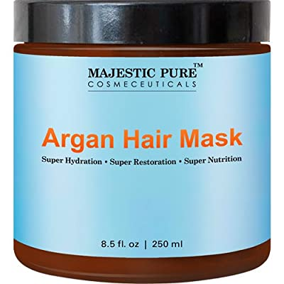 Majestic Pure Argan Oil Hair Mask, Hydrating & Restorative Hair Care Repair Mask, 8.5 Oz