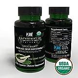 USDA Organic Moringa Capsules | 100% Pure Moringa Leaf Powder Green Superfood | Boost Metabolism, Circulation & Energy Levels | Support Healthy Cholesterol, Blood Pressure & Immune System