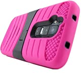 myLife Crayola Magenta Pink {Ribbed Modern with Kickstand Design} 3 Layer FLEX Hybrid Case for the NEW iPhone... by myLife Brand Products