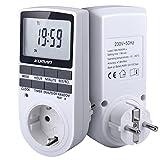 Appliances Parts Best Deals - Kuman 15A/1800W 24 Horas Temporizador Digital Socket, 7-días Interruptor Temporizador Digital Programable para Lights and Appliances con Pantalla LCD W45