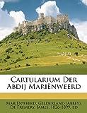 img - for Cartularium Der Abdij Mari nweerd (Dutch Edition) book / textbook / text book