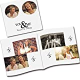 Clixicle Customized Best Friends Forever Flip Photo Book with your own images, 2 photos per page, 20 pages,, 6in x 6in