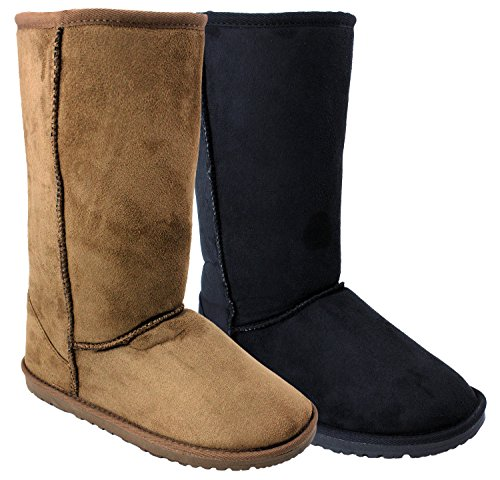 Enimay Women's Boots Snow Shoes Suede Fuzzy Warm Winter Footwear UGG Inspired