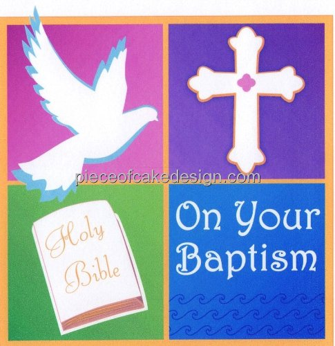 "6"" Round ~ On Your Baptism Birthday ~ Edible Image Cake/Cupcake Topper!!!"