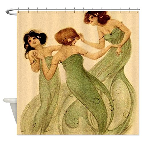 CafePress - Vintage French Art Deco Dancing Girls Shower Curta - Decorative Fabric Shower Curtain (Art Deco Shower Curtain compare prices)