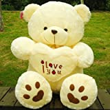 Beige Giant Big Plush Teddy Bear Soft Gift for Vale