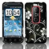 SODIAL(TM) Blossoming White Spring Flower Protective Hard Case Cover Design for Sprint 4G HTC EVO 3D