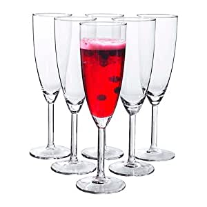 Amazon.com | Ikea Svalka Champagne flute Glass, Set of 6: Champagne