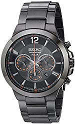 Seiko Men's SSC323 Analog Display Analog Quartz Black Watch