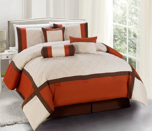 Brown And Red Bedding 4111 front