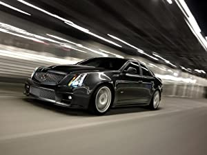 """Cadillac CTS-V Sport Sedan (2011) Car Art Poster Print on 10 mil Archival Satin Paper Black Front Side Speed View 20""""x15"""""""