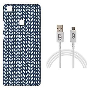 Designer Hard Back Case for Vivo V3 Max with 1.5m Micro USB Cable