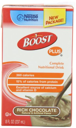 Boost Plus Rich Chocolate 8Oz Brikpaks 27/Case *** 4 Case Special***