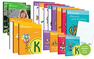 Horizons Homeschool Curriculum Kindergarten Grade K, Complete Set (Set Includes: Math, Health, Phonics & Reading)