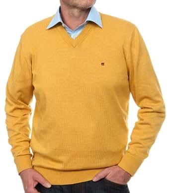 CASAMODA Herren Pullover Regular Fit 004130/530, Gr. 56 (XXL), Gelb (530 gelb)