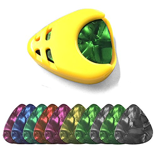 music-guitar-picks-plectrums-with-pick-holder-pack-of-10