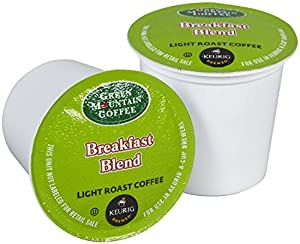 Green Mountain Coffee Breakfast Blend, K-Cup for Keurig Brewers