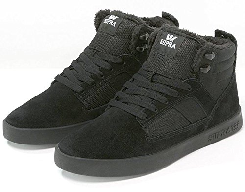 Supra Bandit Black Mens Suede Skate Trainers Shoes Boots-7