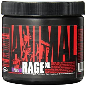 Universal Nutrition Animal Rage Xl, Grape of Wrath, 30 Count