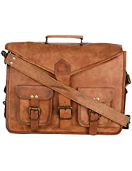 Ramraj Unisex Messenger Leather Bag (RRH809 ,Brown)