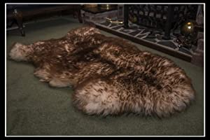 Luxury Natural Sheepskin Rug Spiced Brown Silky Smooth Wool L Leather Heritage from Leather Heritage