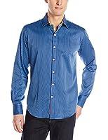 Robert Graham Men's Beachcomber Striped Button Down Shirt with Convertible Cuffs