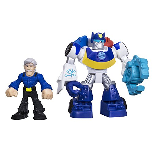 Playskool Heroes Transformers Rescue Bots Chase the Police-Bot and Chief Burns Figure Pack - 1