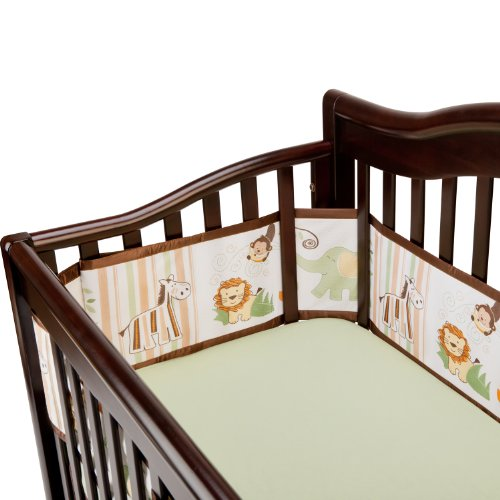 BreathableBaby Breathable Mesh Crib Liner, Safari Fun (Discontinued by Manufacturer)