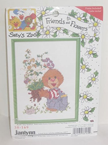 Suzy's Zoo 1997 Retired Cross Stitch Kit - Friends & Flowers 5 x 7