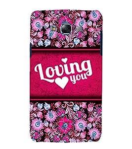 Loving You 3D Hard Polycarbonate Designer Back Case Cover for Samsung Galaxy J5 (2015) :: Samsung Galaxy J5 J500F (Old Version)